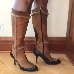 Shoes - Brown and tan real leather boots